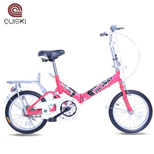 上海quiski快士奇16寸减震避震折叠自行车儿童车