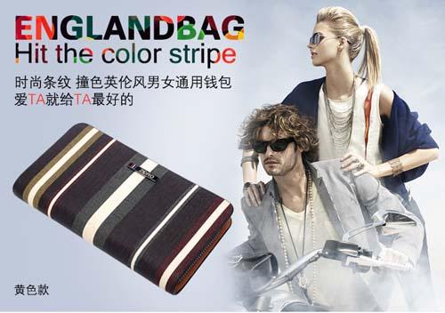 韩版潮流钱包 男士长款两折钱夹休闲时尚小手包