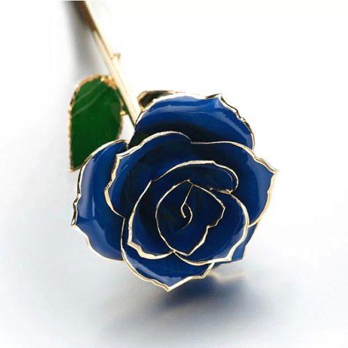 24K镀金鲜花玫瑰浪漫生日礼物蓝色妖姬七夕情人节送女友老婆礼品
