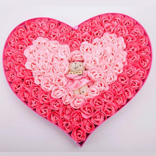 朵美鲜花卡通花束 创意香皂花 钟爱一生 香皂玫瑰花 生日礼物