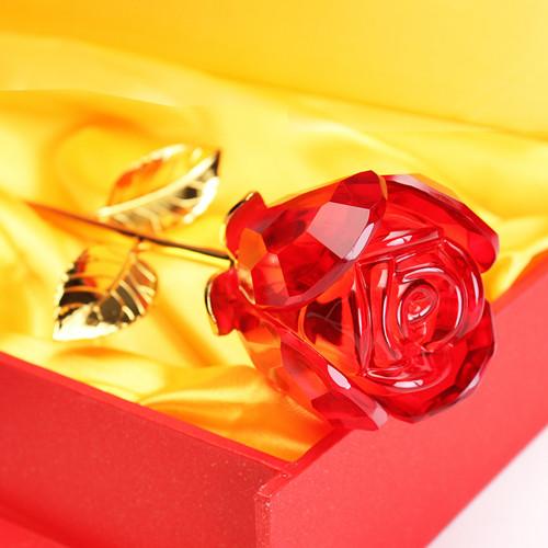 水晶玫瑰创意生日礼物送女生送妈妈实用浪漫男送女友送老婆惊喜新