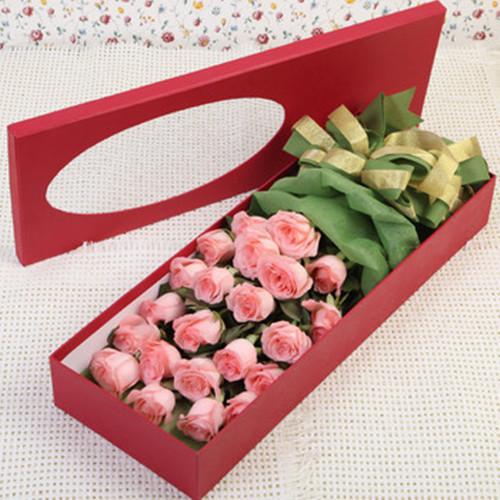 19朵红玫瑰礼盒 送恋人送女友节日生日祝福圣诞节鲜花