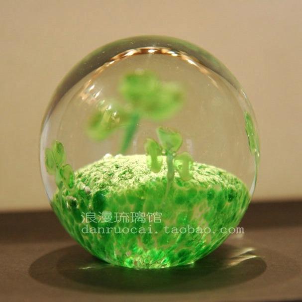 四叶草水晶玻璃球