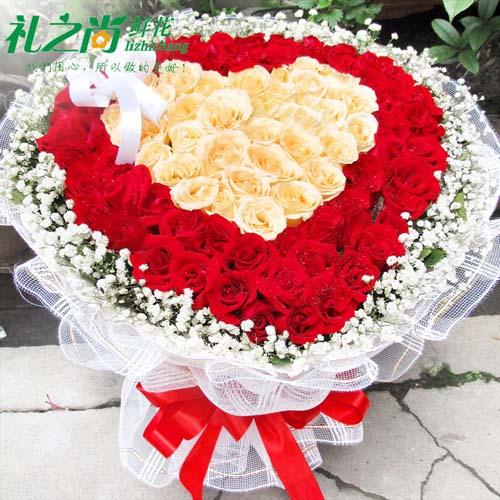 99朵红玫瑰花鲜花速递全国北京南京广州花店送花成都苏州上海天津