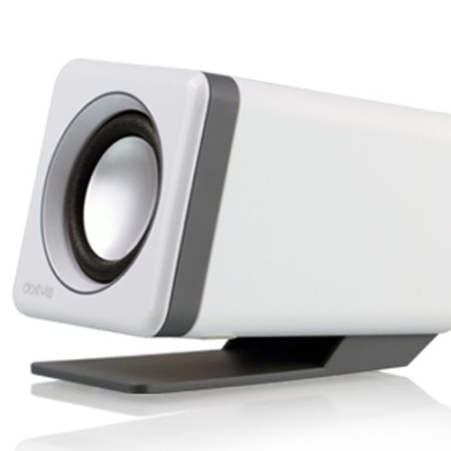 dostyle SD205 2.0USB电脑音响音箱玉石白 桌面小音箱