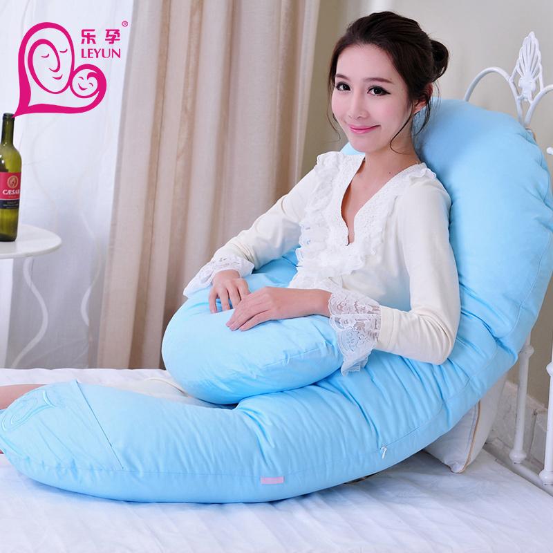 乐孕孕妇枕头护腰枕侧卧枕侧睡枕用品靠枕U型睡枕多功能抱枕夏