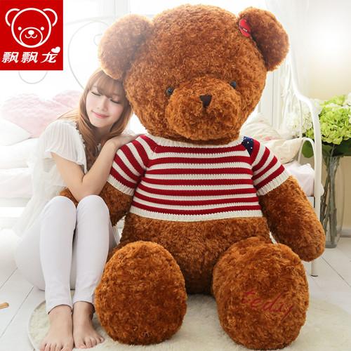 飘飘龙毛绒玩具泰迪熊 大号可爱布娃娃抱抱熊玩偶公仔生日礼物