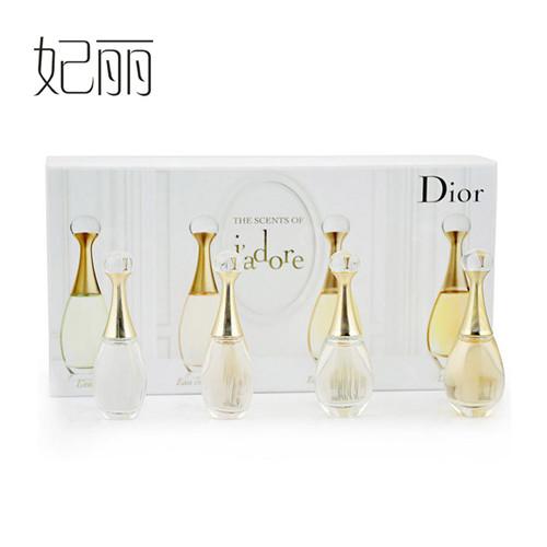 包邮 迪奥/Dior 真我香水套装四件套 Q版女士香水 精美礼盒