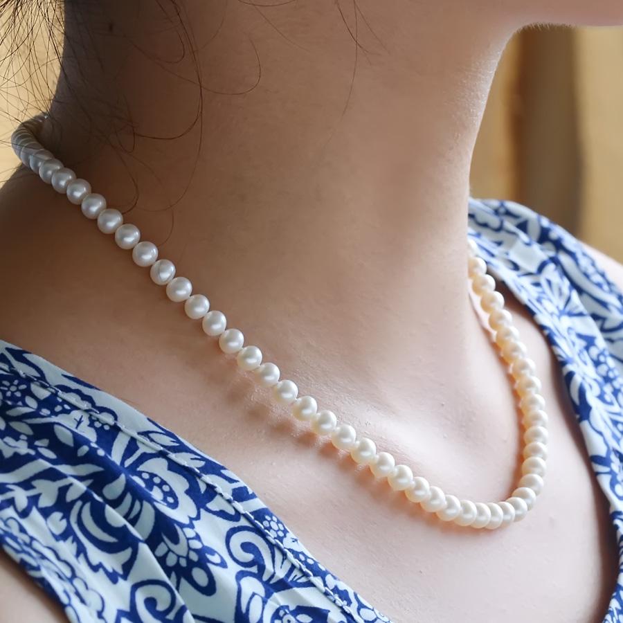 奢享珠宝 爱慕 天然淡水近正圆小珍珠项链